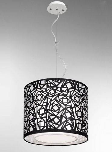 Franklite PCH111 Black / White Pendant Light (Class 2 Double Insulated)